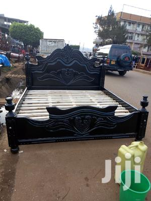 Simple Bed 5x6 Black | Furniture for sale in Kampala