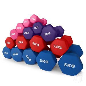 Coloured Unisex Dumbbells   Sports Equipment for sale in Kampala