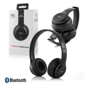 Original Bluetooth Wireless Bass P47 Headsets With FM   Headphones for sale in Kampala