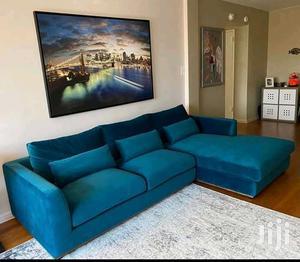 L Sofa in Dack Blue Colour | Furniture for sale in Kampala