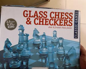Glass Chess Checkers   Books & Games for sale in Kampala