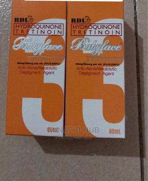 RDL HYDROQUINONE/TRETINOINE Baby Face 3 Solution(60ml) | Skin Care for sale in Kampala
