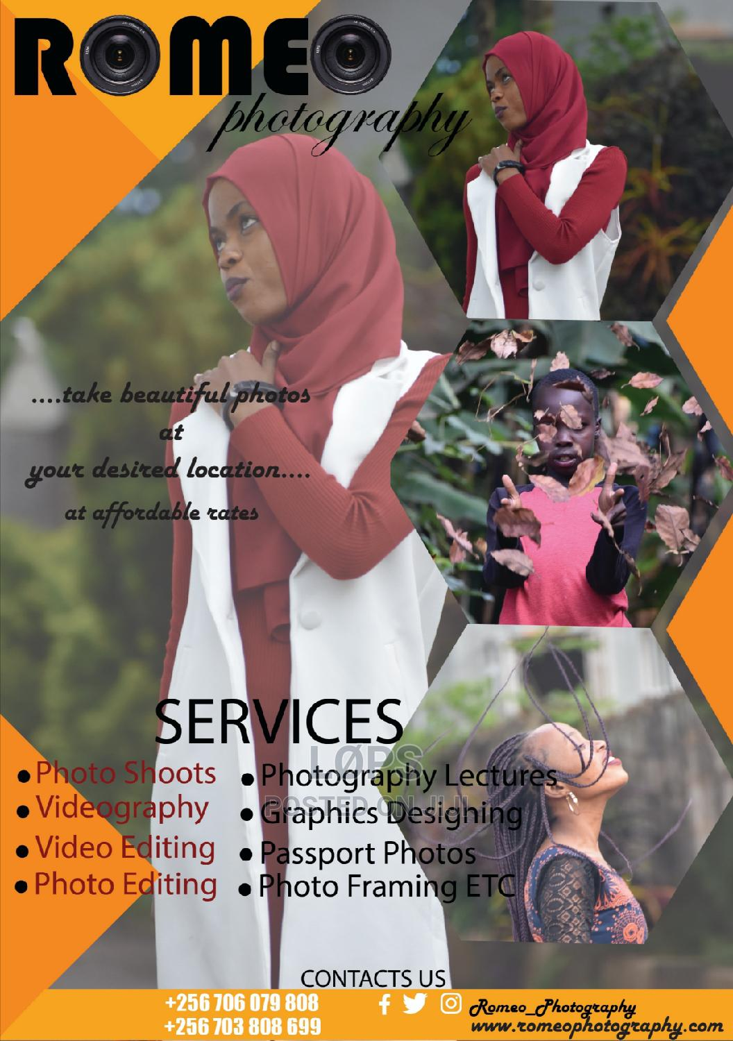 Photographer And Graphics Designer   Photography & Video Services for sale in Kampala, Uganda