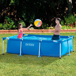 Intex Rectangular Frame Small Family Swimming Pool 2.6M | Sports Equipment for sale in Kampala