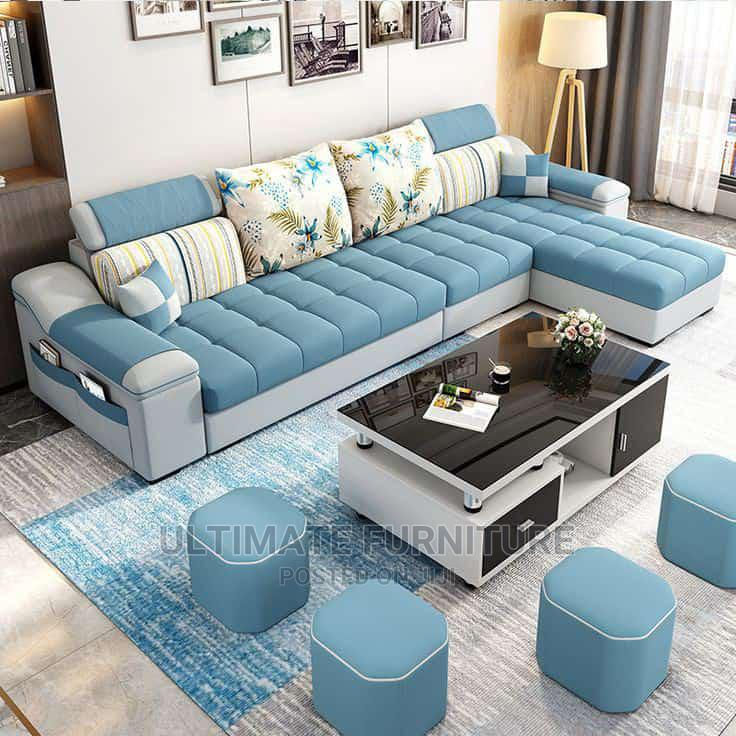 Blue L Sofa Chair for Sell