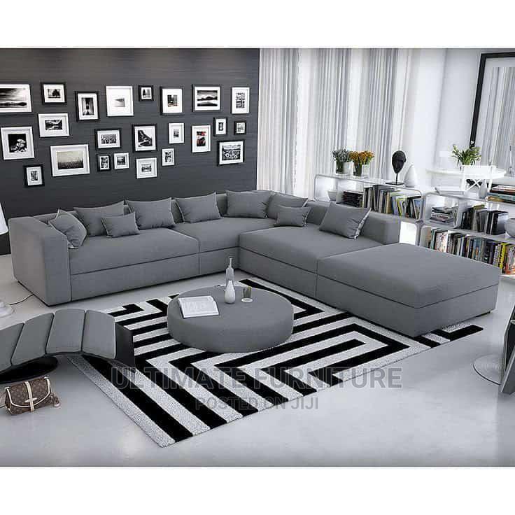 Gray L Sofa Chair