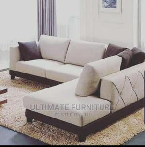 Cream L Sofa Chair for Sell | Furniture for sale in Kampala