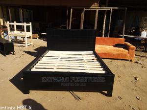 5x6 Simple Black Bed | Furniture for sale in Kampala