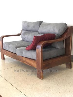 Executive Balcony Natural Mugavuu Wood 2 Sitter Sofa   Furniture for sale in Kampala