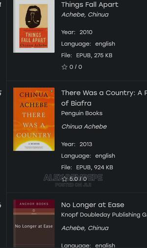 Chinua Achebe's Novels   Books & Games for sale in Western Region, Kyenjojo