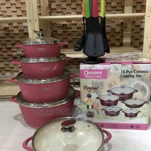 Dessini 10pcs Cook and Serve Ceramic Coating Set | Kitchen Appliances for sale in Kampala, Central Division