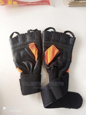 Gym Gloves Leather Black | Sports Equipment for sale in Kampala, Central Division