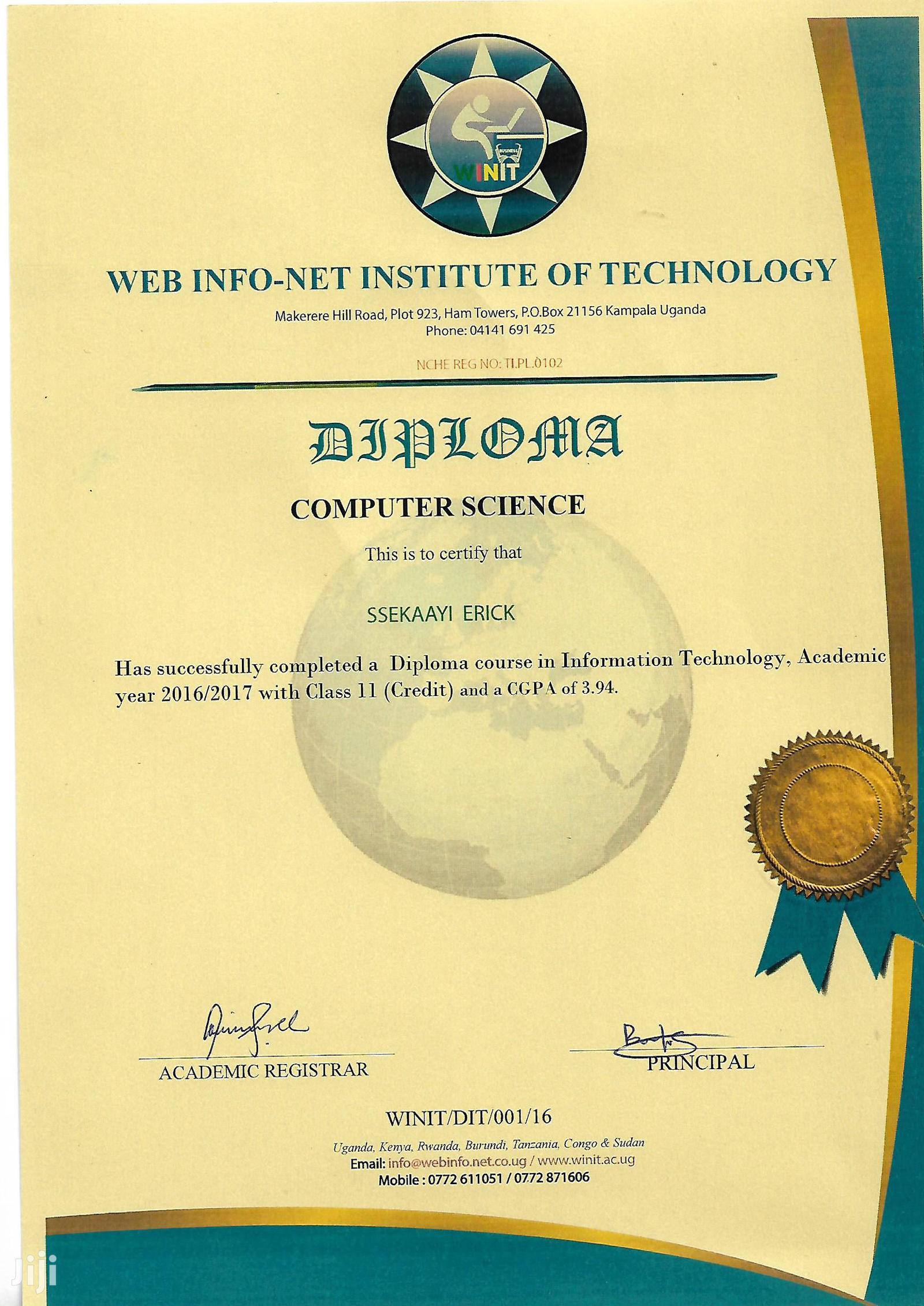 It Support Officer | Computing & IT CVs for sale in Kampala, Uganda